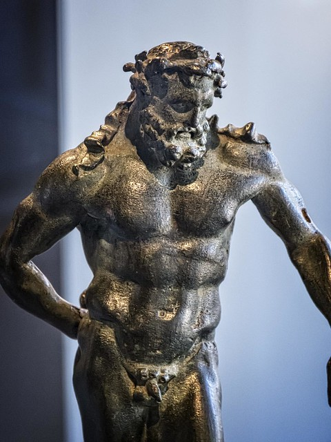 Hercules Roman copy of a Greek original by Lysippos Mid-Late 1st century CE Bronze