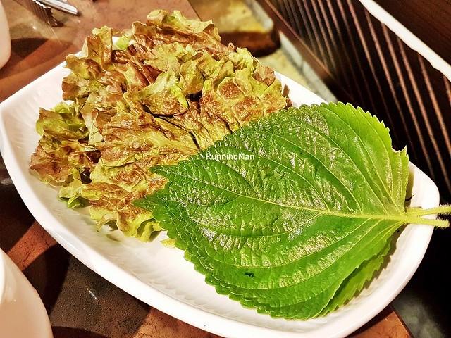 Gogigui / Barbecue - Sangchu / Lettuce, Kkaennip / Perilla Leaf