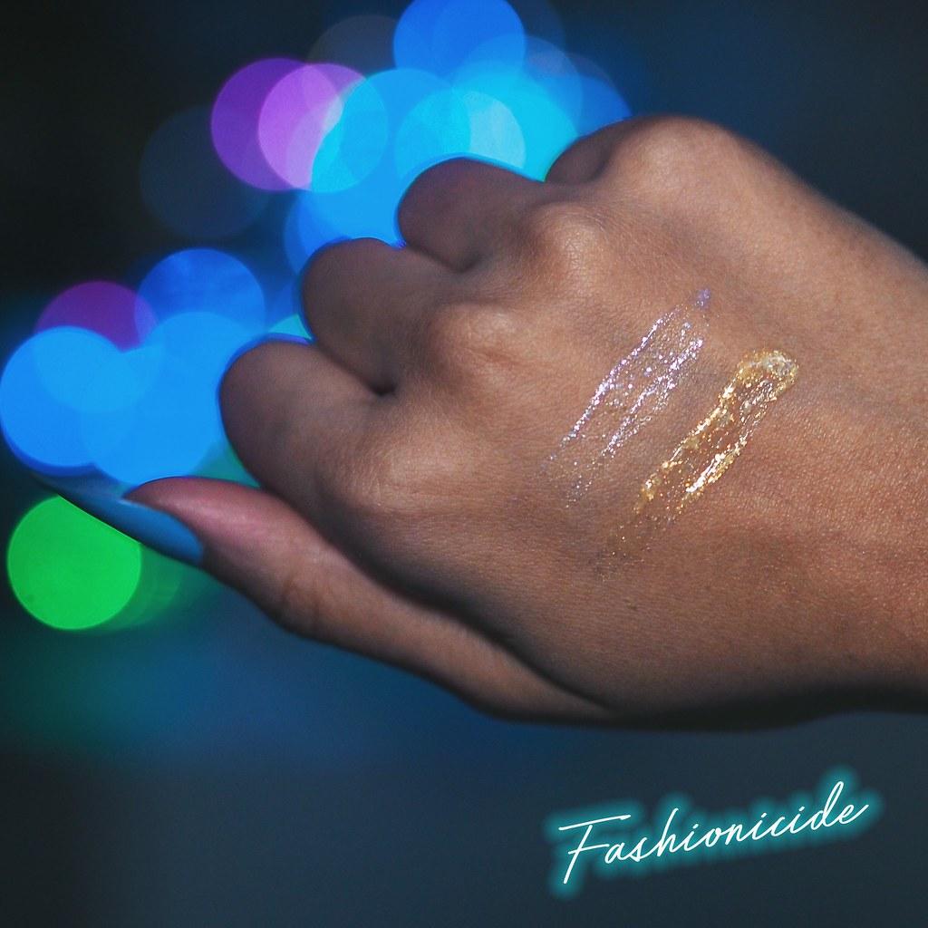 illamasqua embellished broken eye gel gold silver swatches review metallic