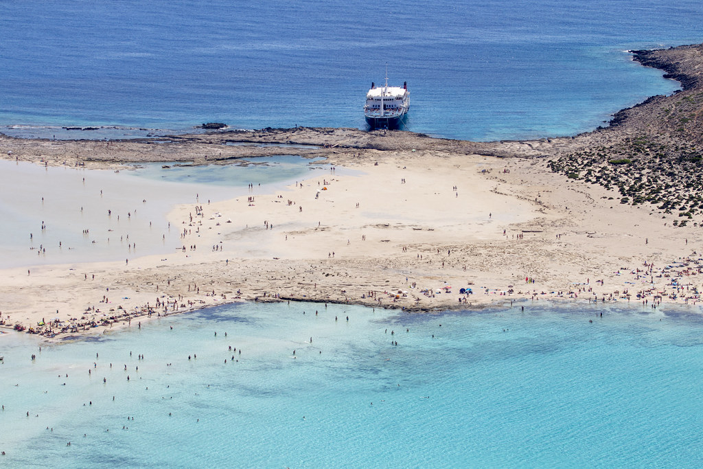 Balos Lagoon wih Ship - Crete, Greece