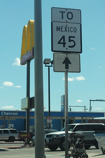 To Mexico 45 Sign