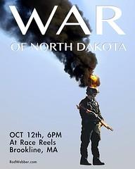 """The War of North Dakota"" at Race Reels tonight in Brookline. #standingRock #mniwiconi #warofnorthdakota"