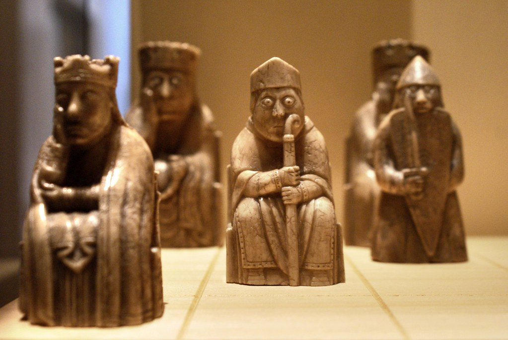 >Jeux d'échec de Lewis - Musée National d'Ecosse à Edimbourg