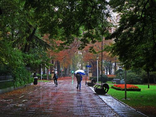 Día de cielo encapotado y con lluvia