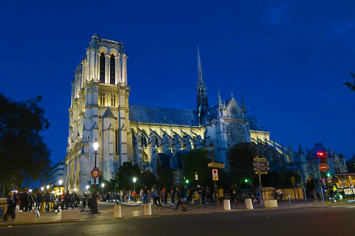 Notre-Dame de Paris at Night - Paris