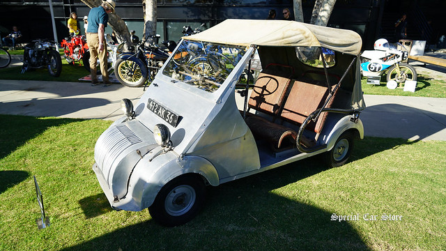 1949 Voisin Biscooter Prototype at Red White and Blue theme Art Center Car Classic 2017