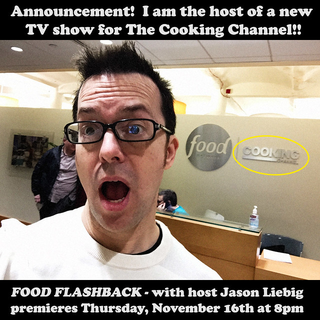 Announcement:  I'm the host of a new TV show for The Cooking Channel!