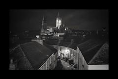 Truro by night (Olympus OM2n, Ilford XP2)
