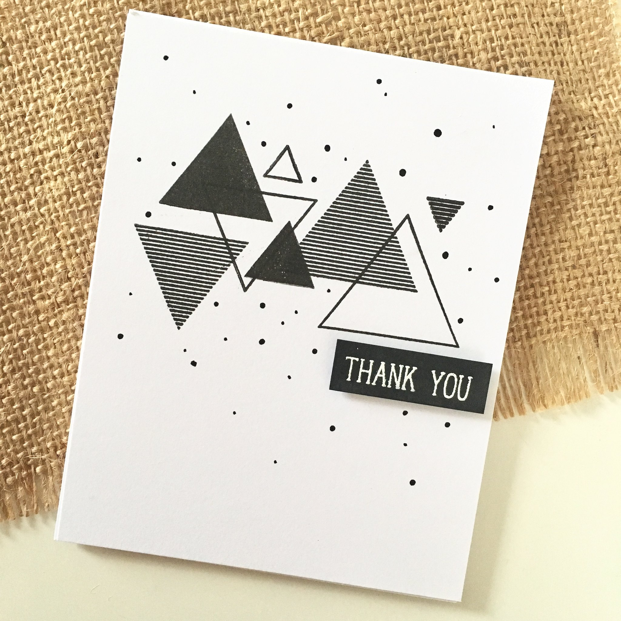 Sohcahtoa thank you card