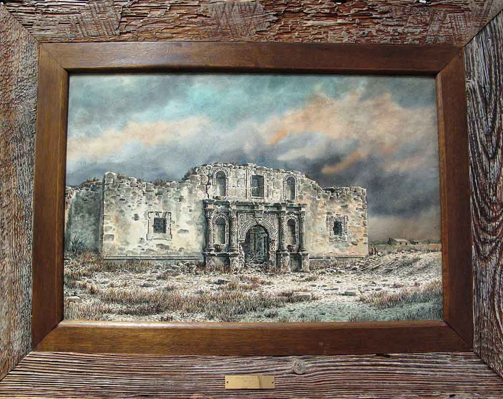 Mission San Antonio de Valero [The Alamo] by Donald Yena