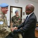Kinshasa,DR Congo: As part of his visit to the DRC, deputy Military Advisor,(DMILAD) Maj. Gen Van Roosen yesterday Thursday 2 November 2017 called on the Special Representative of the Secretary General Maman Sidikou at the MONUSCO Headquarters in Kinshasa