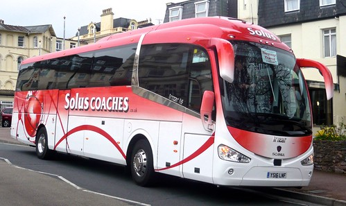 YS16 LNF 'Solus Coaches' of Tamworth, Scania K360IB4 / Irizar i6 on 'Dennis Basford's railsroadsrunways.blogspot.co.uk'