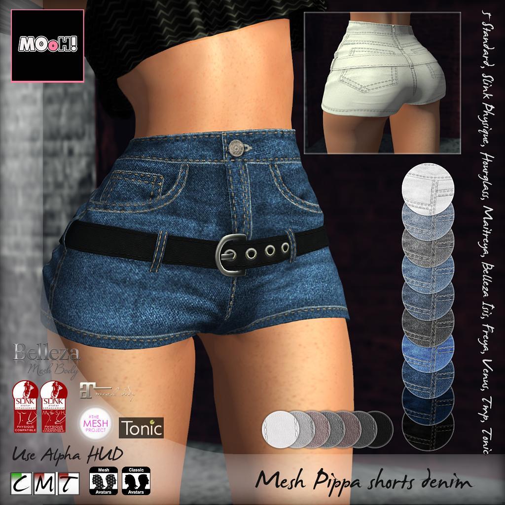 Pippa shorts denim - TeleportHub.com Live!