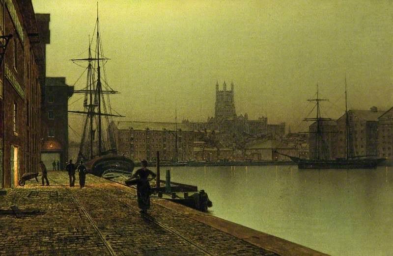Gloucester Docks by John Atkinson Grimshaw, 1890