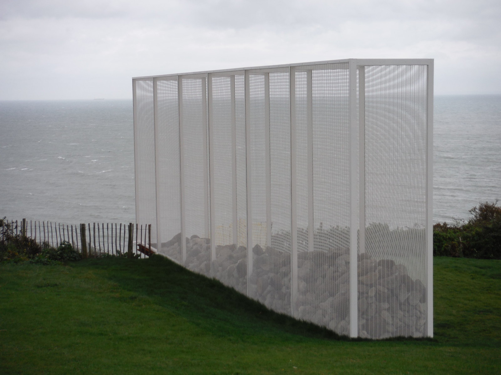 Folkestone Triennial: Alex Hartley - Wall [East Cliff] SWC Walk 93 - North Downs Way: Sandling to Folkestone or Dover