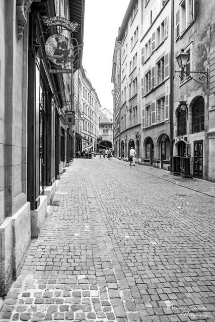 My lovely Geneva - Grand-Rue - DSC_0096 b&w