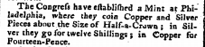 Mint at Philadelpia - St. James Chronicle, December 21, 1776. Page 3