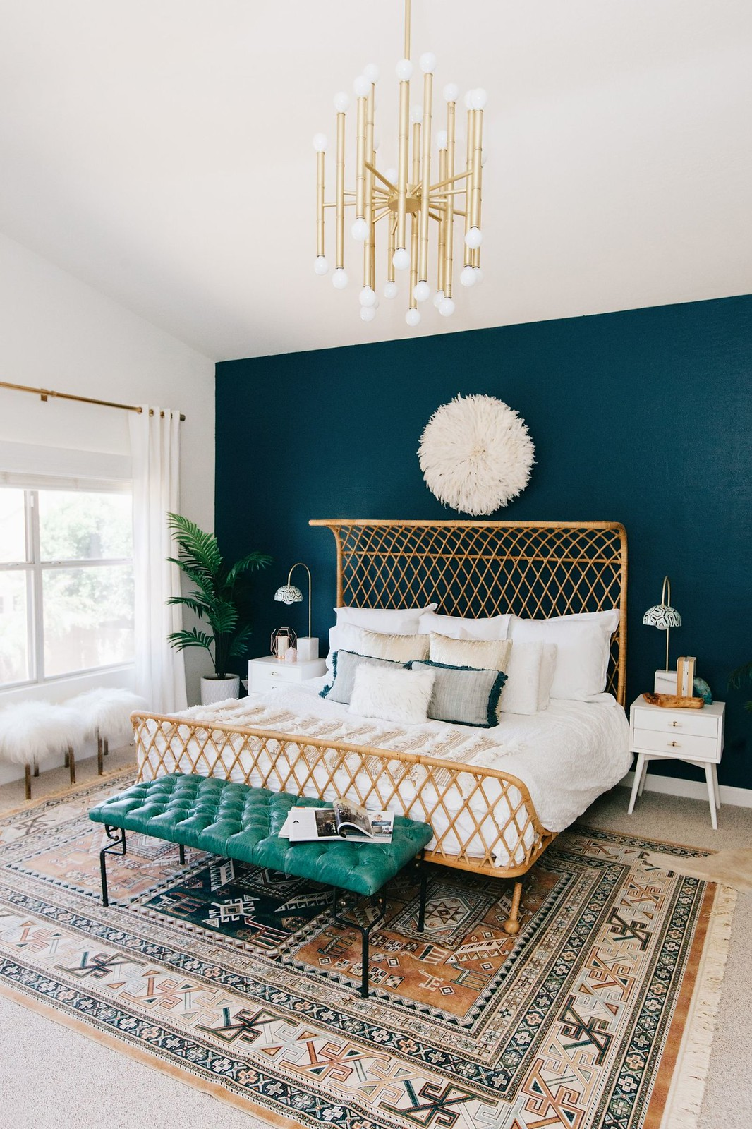 Jewel Toned Wall Color Bohemian Bedroom Anthropologie Bed Juju Hat
