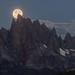 Lunar Eclipse Moon Set Behind The Minarets by Jeffrey Sullivan