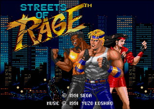 Streets of Rage - title screen