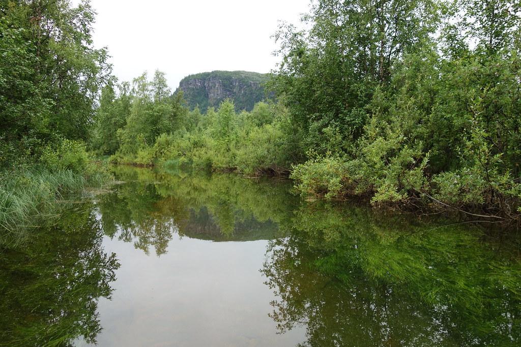 Paddling the Kvikkjokk delta.