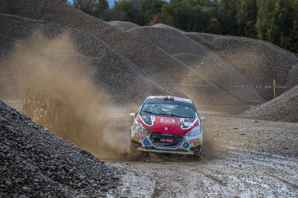 31 Sesks Mārtiņs and Malnieks Andris, LMT Autosporta Akademija, Peugeot 208 R2 ERC Junior U27 action during the 2017 European Rally Championship ERC Liepaja rally,  from october 6 to 8, at Liepaja, Lettonie - Photo Gregory Lenormand / DPPI