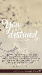 Romans 5:17 - You are destined to reign in life