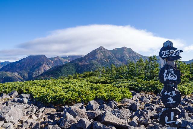 八ヶ岳主峰は雲に遮られる@編笠山