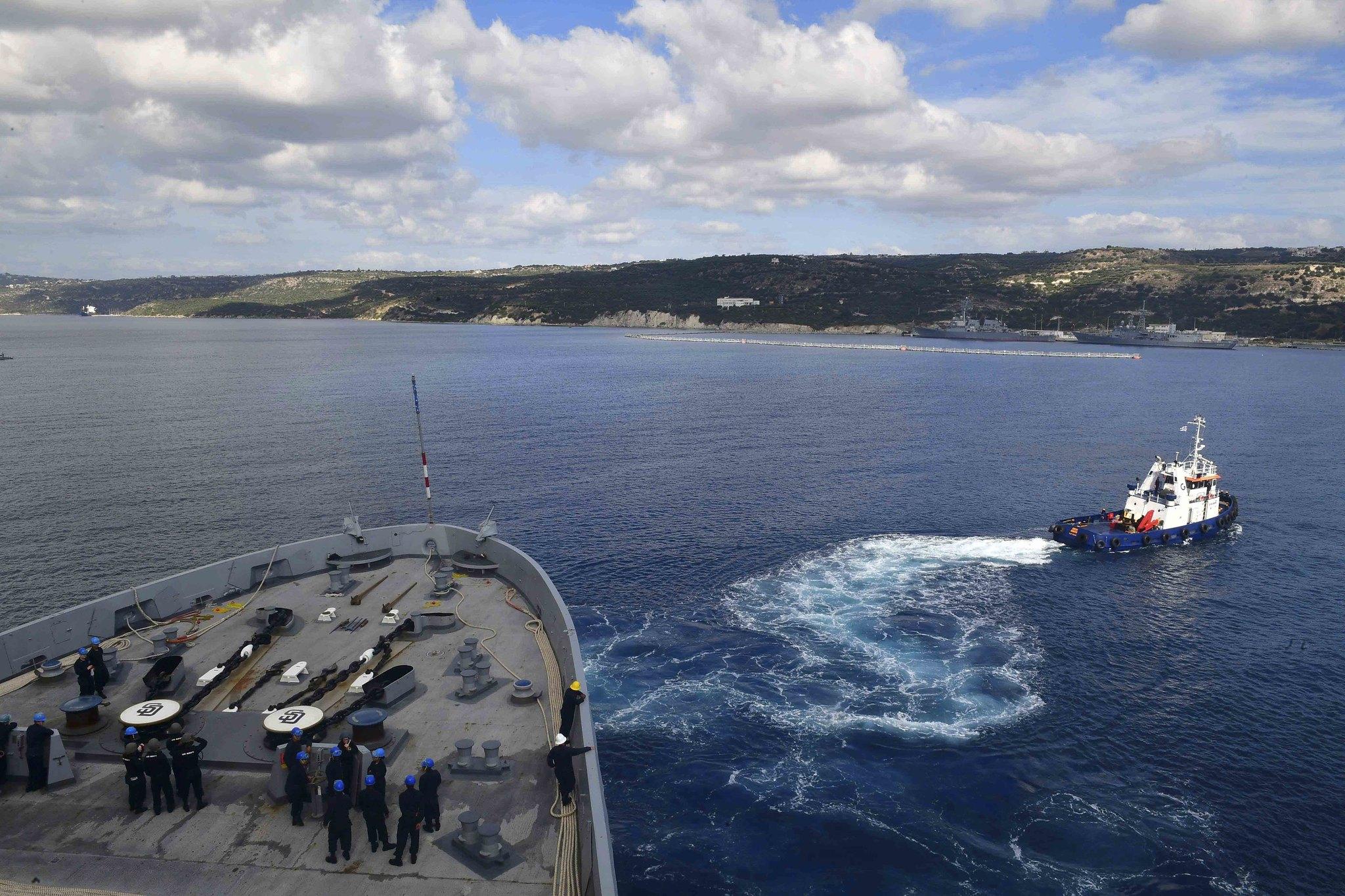 Uss san diego arrives in souda bay greece u s naval for Sejour complet grece