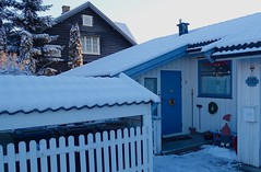 Christmas decorations, Lillehammer, Norway, Christmas 2014