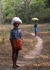 Tribesman Coming Back from Fishing