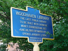 Woodhaven Library Historic Marker