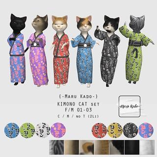 {-Maru Kado-} KIMONO CAT set