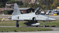 J-3074 Northrop F-5F Tiger || Swiss Airforce Sion airport LSMS 18.10-17