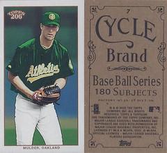 2002 Topps 206 Mini Baseball Card / Series 1 / Cycle - MARK MULDER #7 (Pitcher) (Oakland Athletics)