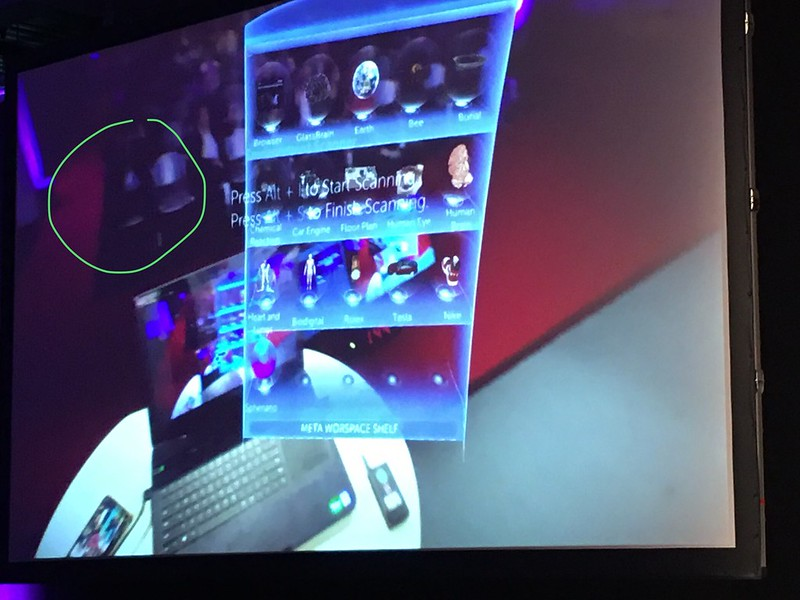 I am sitting here in the meta workspace demo #ar #awe2017