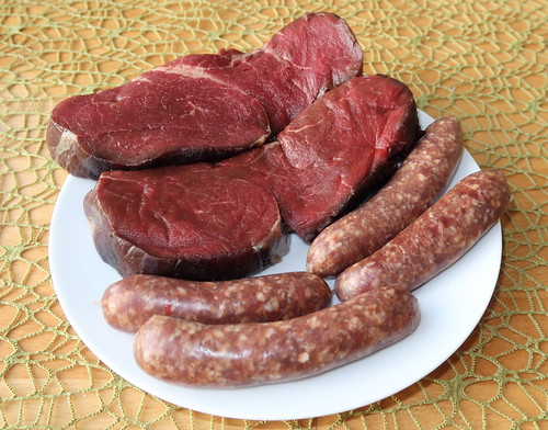 Pferdefiletsteaks und reine Lammfleisch Merguez