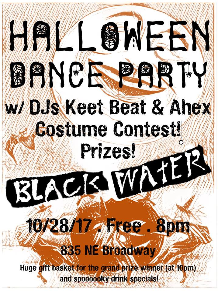 black water halloween dance party