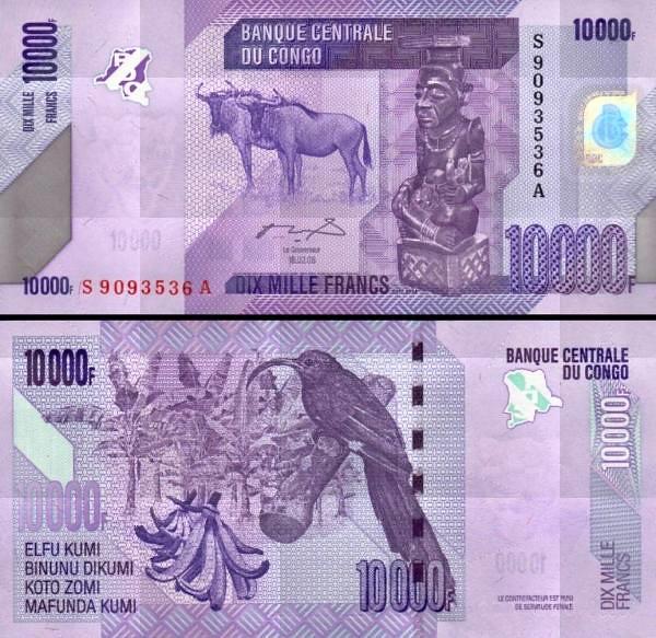 10 000 Frankov Kongo Dem.Rep. 2006(12), P103a