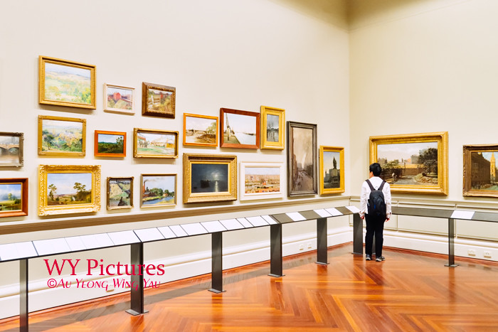 Melbourne 2017:  State LIbrary Of Victoria Cowen Gallery Visiting The Art Paintings