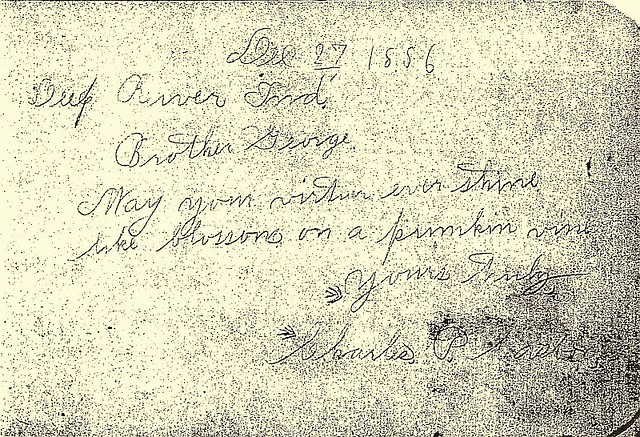 Casbon Charles P ltr to George W 1886