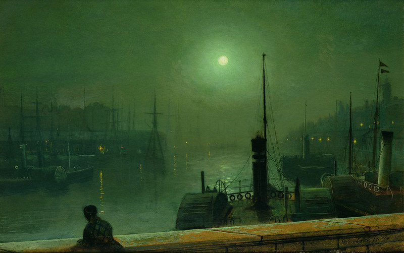 On the Clyde, Glasgow by John Atkinson Grimshaw, 1879