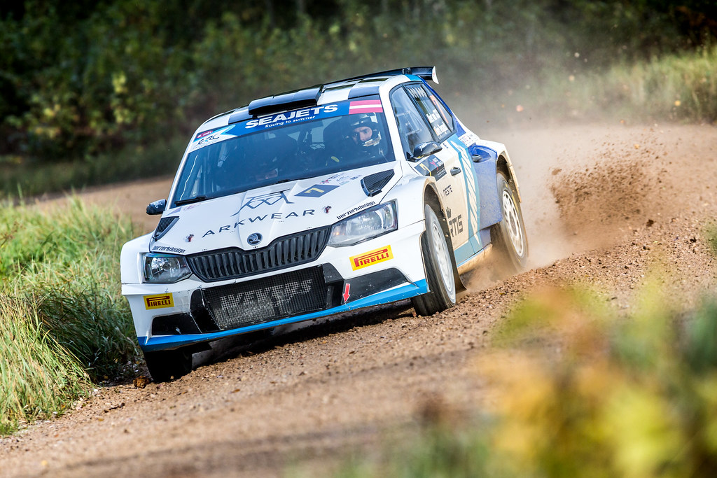 07 Von Thurn und Taxis Albert and Degandt Bjorn, Skoda Fabia R5 action during the 2017 European Rally Championship ERC Liepaja rally,  from october 6 to 8, at Liepaja, Lettonie - Photo Thomas Fenetre / DPPI