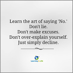 The Art of Saying 'No'.