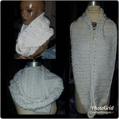 Hi @jalchem :eyes::eyes::eyes: Just finished! White infinity scarf. #crochet #wordpress