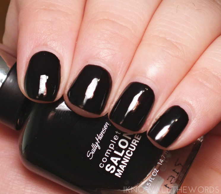 sally hansen black to basics collection hooked on onyx