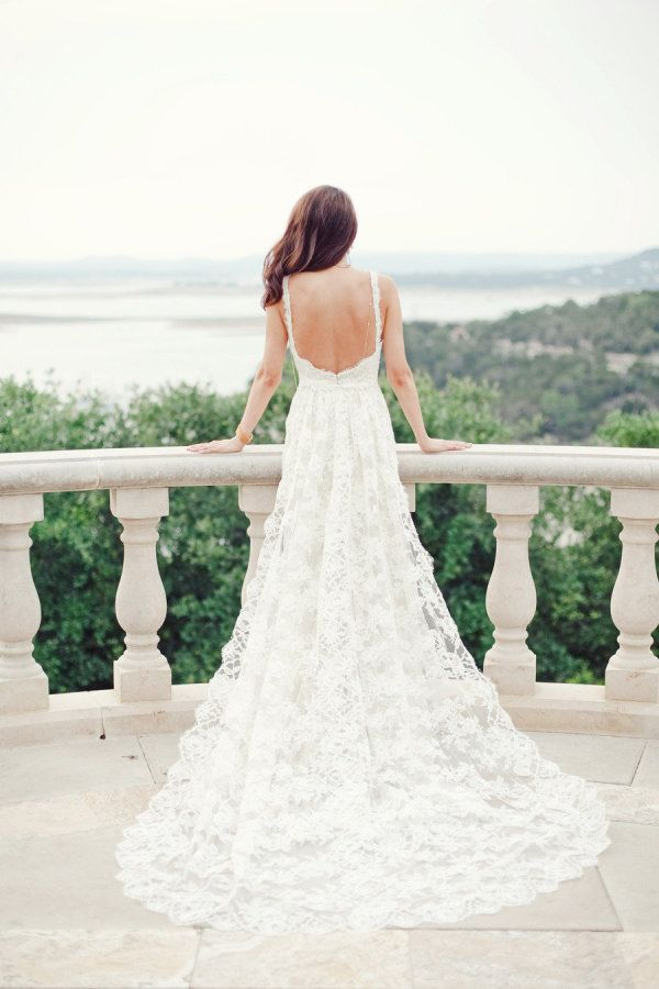 Wedding Dresses Inspiration  : Low back wedding dress: Photography: Nichols - www.jnicholsphoto...... - #WeddingDresses