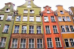 The facades of Gdańsk, Poland