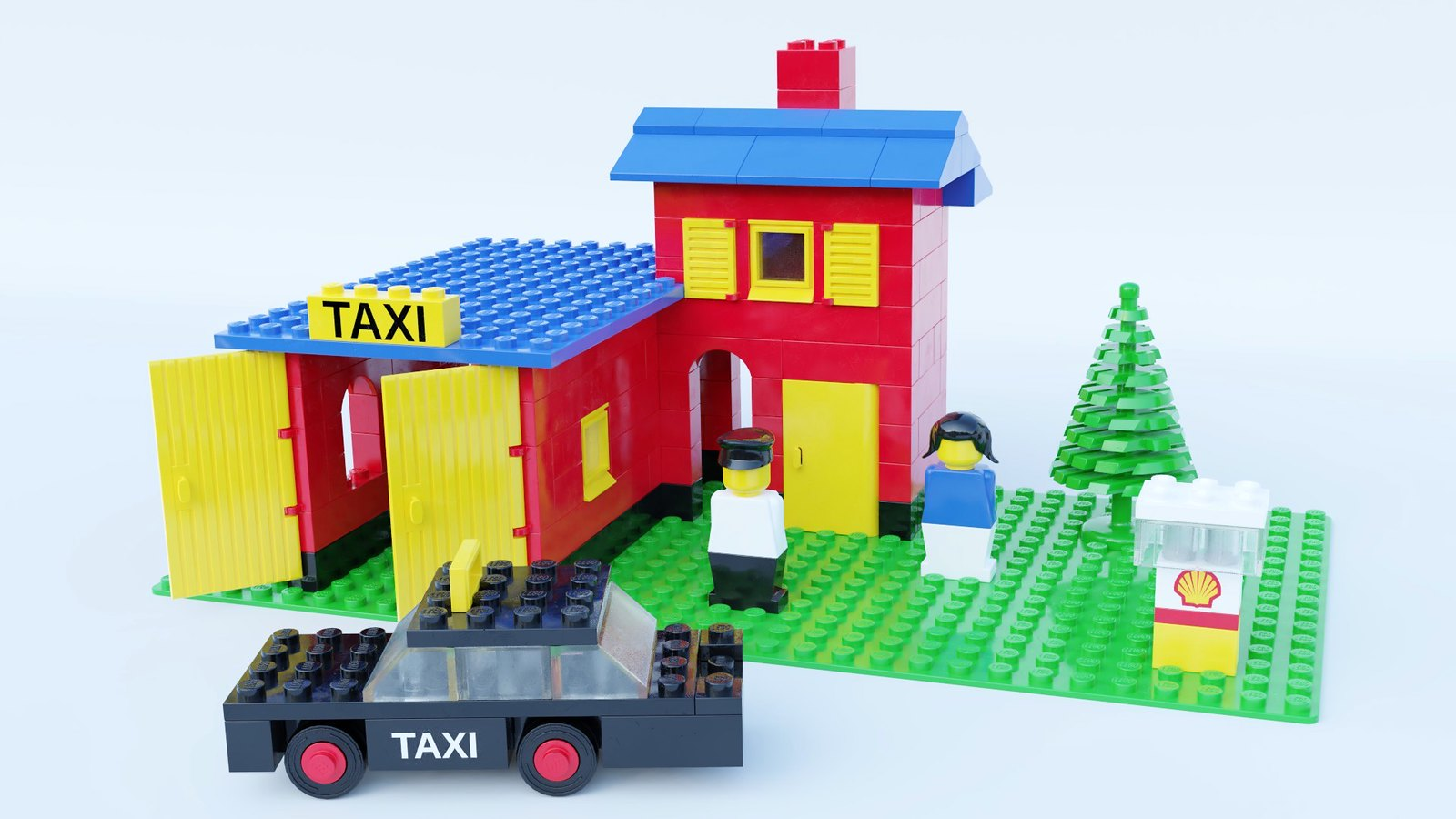 Bringing New Life to an Old Lego Taxi Garage Set