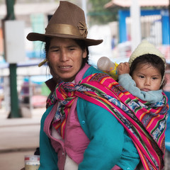 Quechua mother and child